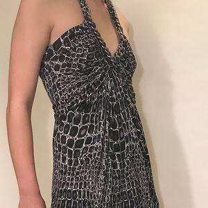 Animal Print Halter Dress